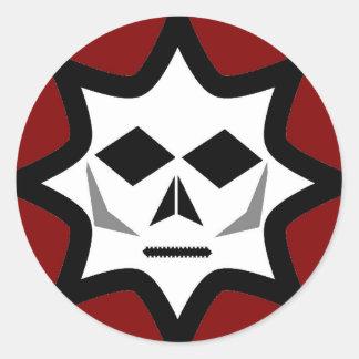 Logotipo misterioso pegatina redonda