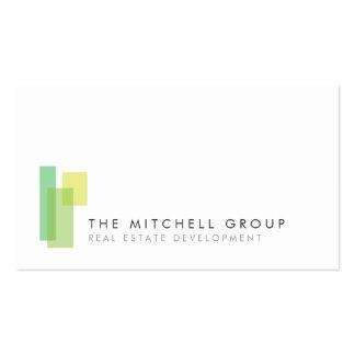 Logotipo moderno 3 para las propiedades tarjetas de visita