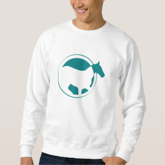 Logotipo moderno del círculo del caballo del sudadera