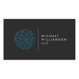 Logotipo moderno profesional del azul de los tarjetas de visita