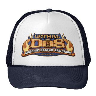 Logotipo mortal del DOS Gorras De Camionero