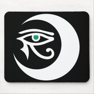 Logotipo Mousepad blanco de LunaSees ojo del jade Alfombrillas De Ratón