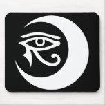 Logotipo Mousepad (blanco/ojo morado) de LunaSees Alfombrilla De Ratón