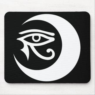 Logotipo Mousepad blanco ojo morado de LunaSees Alfombrilla De Ratón