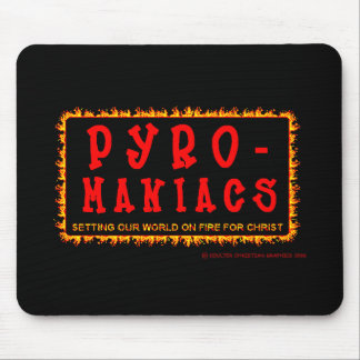 Logotipo Mousepad de los Piro-Maniacos del Bethel Alfombrillas De Ratón