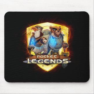 Logotipo Mousepad del oro de las leyendas del bols