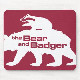 Logotipo Mousepad del oso y del tejón