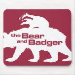 Logotipo Mousepad del oso y del tejón Tapete De Ratón