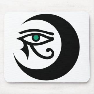 Logotipo Mousepad negro de LunaSees ojo del jade Tapete De Ratones