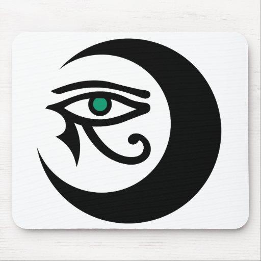 Logotipo Mousepad (negro de LunaSees/ojo del jade) Tapete De Ratones