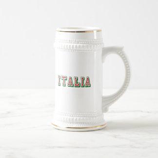 Logotipo muy simple con todo fresco de Italia de I Taza