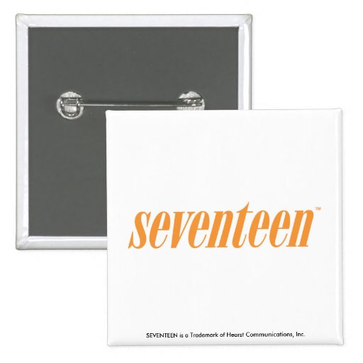 Logotipo-Naranja diecisiete Pin Cuadrado