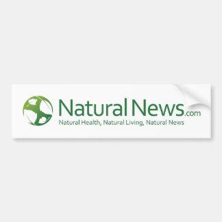 Logotipo natural Bumpersticker de las noticias Pegatina De Parachoque