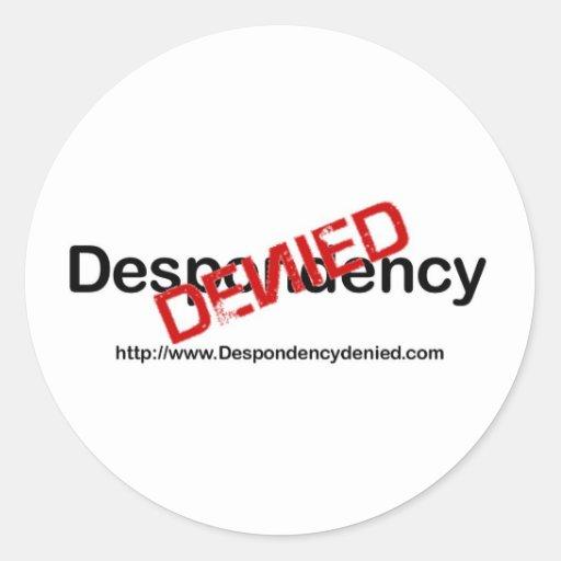 Logotipo negado Despondency Pegatina Redonda