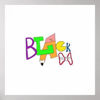 Logotipo negro de la original de los empollones póster