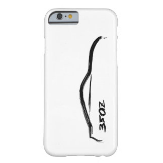 logotipo negro de la silueta 350z con el fondo funda de iPhone 6 barely there