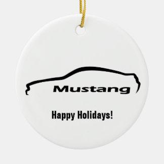 Logotipo negro de la silueta del mustango adorno