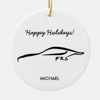 Logotipo negro de la silueta del Scion FR-S con el Ornaments Para Arbol De Navidad