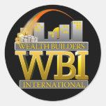 Logotipo negro de WBI Etiquetas Redondas