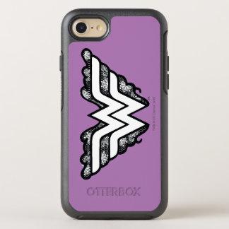 Logotipo negro del cordón de la Mujer Maravilla Funda OtterBox Symmetry Para iPhone 7