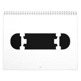 Logotipo negro del monopatín calendarios