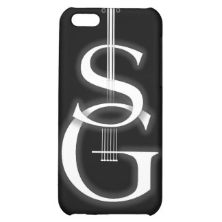 logotipo negro del SG del caso del iPhone 4