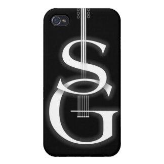 logotipo negro del SG del caso del iPhone 4 iPhone 4 Cárcasas