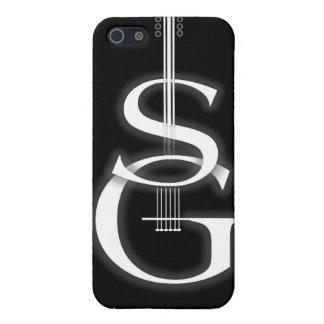 logotipo negro del SG del caso del iPhone 4 iPhone 5 Fundas