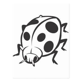 Logotipo negro fresco del tatuaje de la mariquita postal