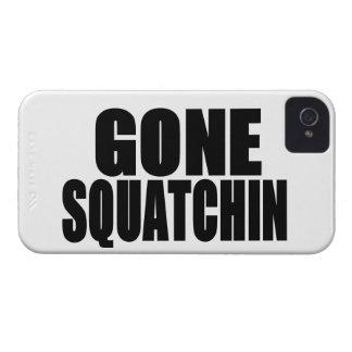 Logotipo negro ido de Squatchin iPhone 4 Cobertura