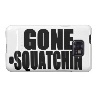 Logotipo negro ido de Squatchin Galaxy S2 Carcasas