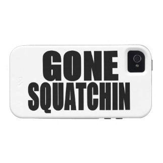 Logotipo negro ido de Squatchin iPhone 4 Carcasas