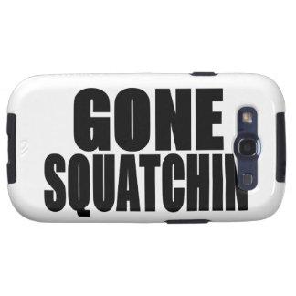Logotipo negro ido de Squatchin Samsung Galaxy S3 Cobertura