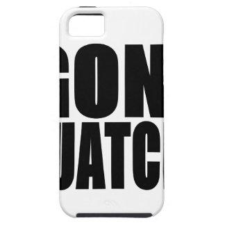 Logotipo negro ido de Squatchin iPhone 5 Case-Mate Fundas