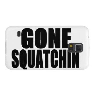 Logotipo negro ido de Squatchin Fundas Para Galaxy S5