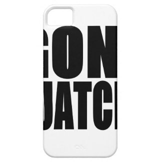 Logotipo negro ido de Squatchin iPhone 5 Case-Mate Carcasas