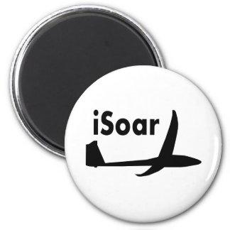 logotipo negro iSoar Imán Redondo 5 Cm
