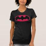 Logotipo negro rojo de Batman Camiseta