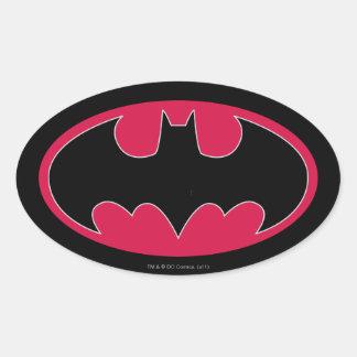 Logotipo negro rojo de Batman Calcomanías De Ovales