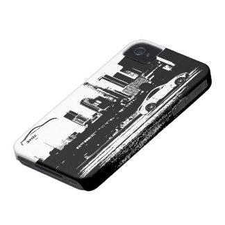 logotipo negro tirado balanceo de la pincelada Case-Mate iPhone 4 fundas