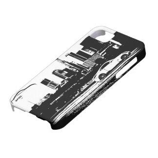 logotipo negro tirado balanceo de la pincelada iPhone 5 Case-Mate funda