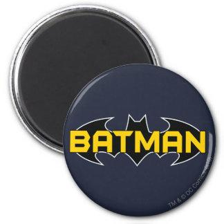 Logotipo negro y amarillo de Batman Imán Redondo 5 Cm