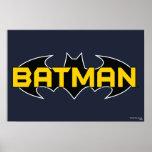 Logotipo negro y amarillo de Batman Posters