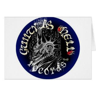 Logotipo negro y azul felicitacion