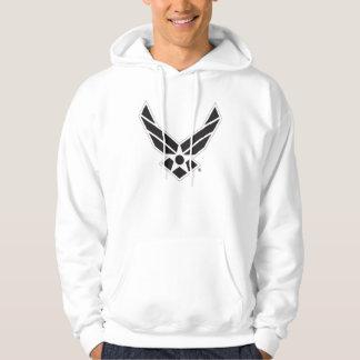 Logotipo negro y blanco de la fuerza aérea de sudadera