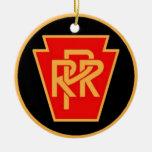 Logotipo, negro y oro del ferrocarril de adornos de navidad