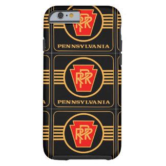 Logotipo, negro y oro del ferrocarril de funda de iPhone 6 tough