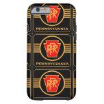 Logotipo, negro y oro del ferrocarril de funda resistente iPhone 6