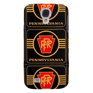 Logotipo, negro y oro del ferrocarril de Pennsylva
