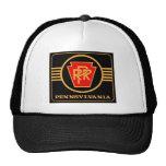 Logotipo, negro y oro del ferrocarril de Pennsylva Gorra